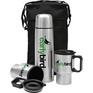 3 Piece Stainless Steel City Set w/Thermos Carrying Case
