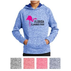 Sport-Tek® Youth PosiCharge® Electric Heather Fleece Hooded Pullover